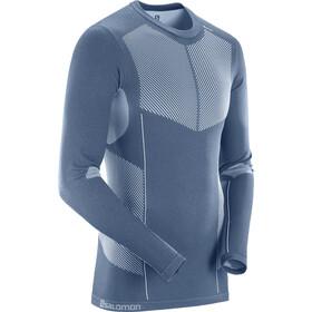 Salomon Primo Warm T-shirt Sans couture Homme, dark denim